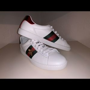 Gucci Ace Embroidered Sneakers - Mens Size 9.5 US